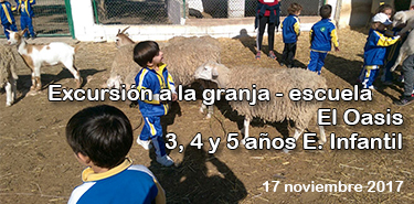 Cartel web Excursion granja 17-18