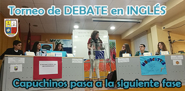 Cartel web Torneo debate ingles fase 1 - 17-18