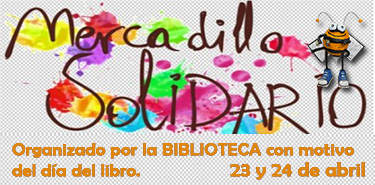 Cartel web mercadillo solidario biblio 17-18